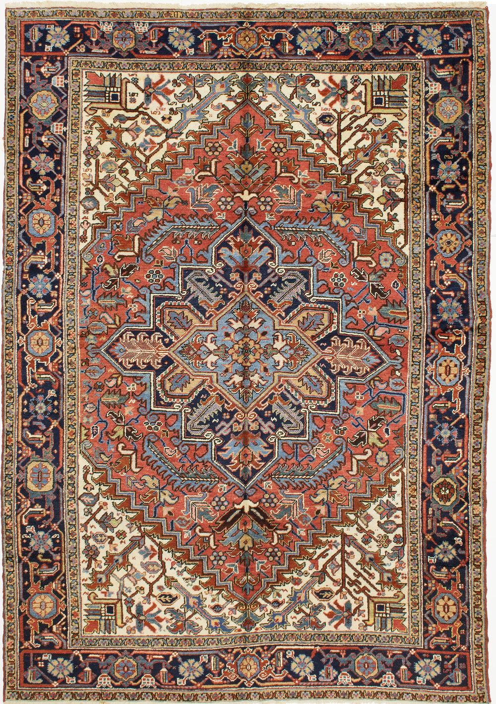 "Heriz Carpet 9' 3"" x 6' 7"""