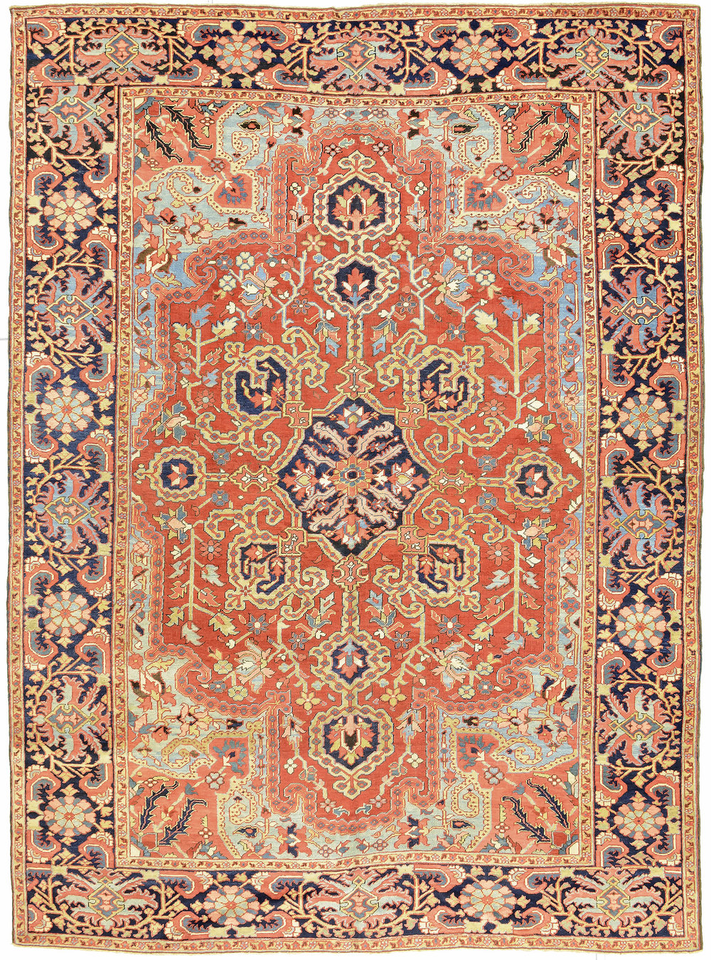 "Heriz Carpet 12' 6"" x 9' 1"""