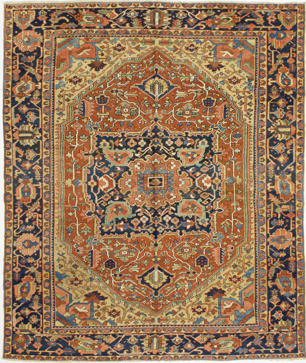"Heriz Carpet 9' 10"" x 8' 4"""