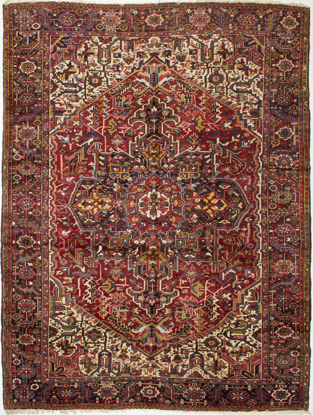 "Heriz Carpet 12' 5"" x 9' 6"""