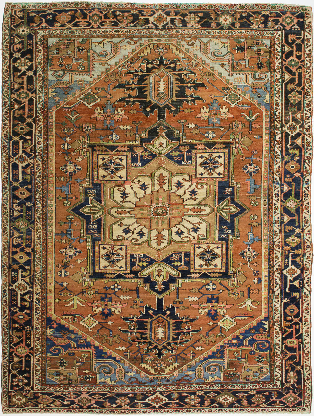 "Heriz Carpet 12' 5"" x 9' 7"""