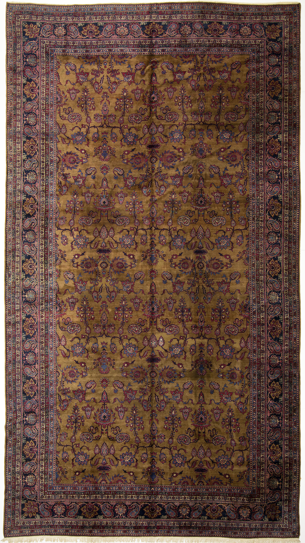 "Indo-Kerman Carpet 16' 10"" x 9' 4"""