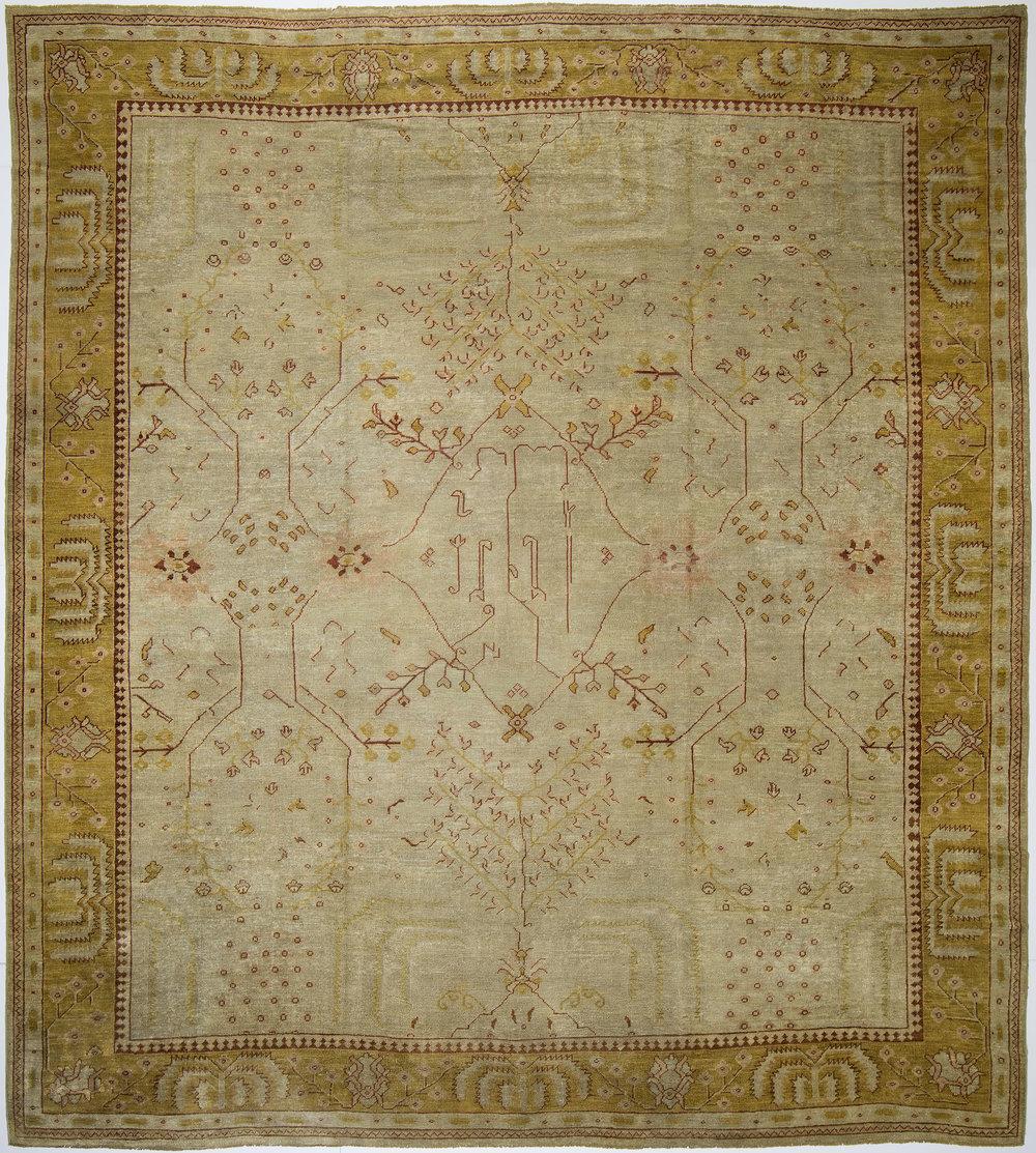 """Oushak Carpet 14' 3"""" x 12' 9"""""""
