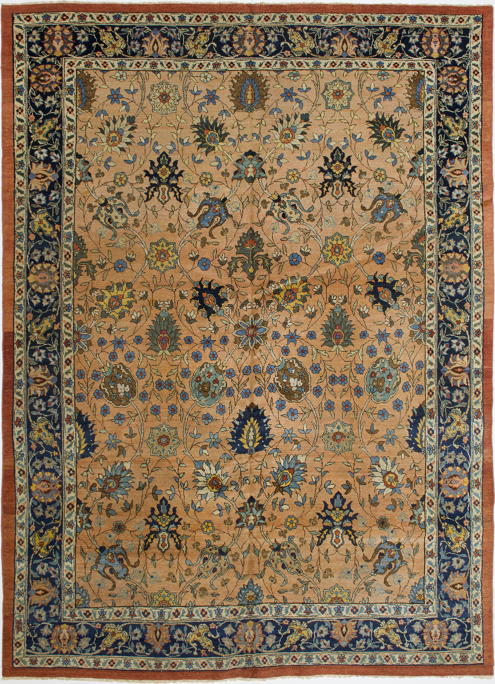 "Tabriz Carpet 10' 11"" x 8' 2"""