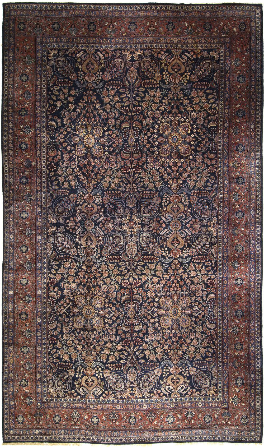 """Mahajeran Sarouk Carpet 21' 8"""" x 12' 9"""""""