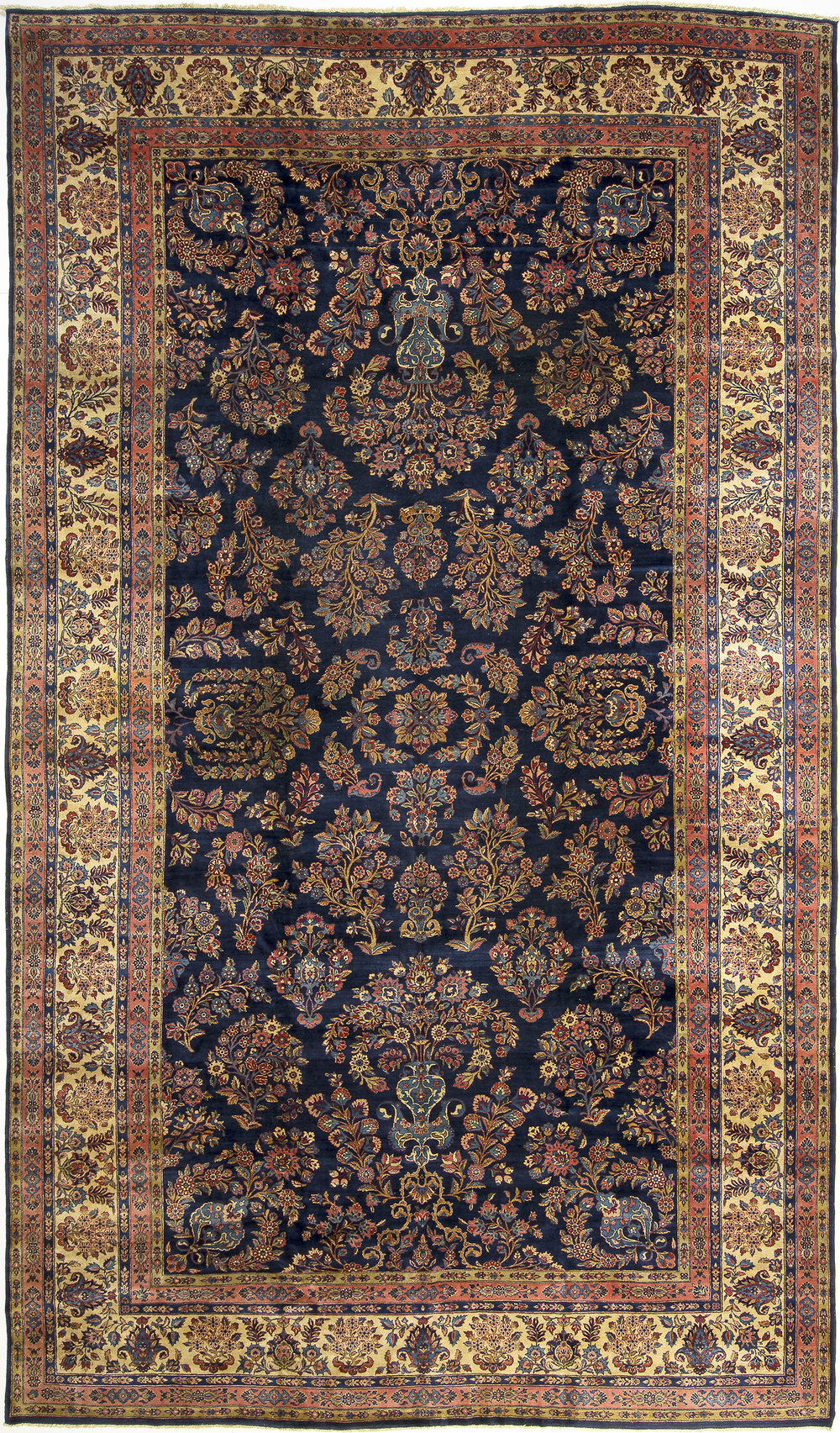 "Kashan Carpet 17' 6"" x 10' 2"""