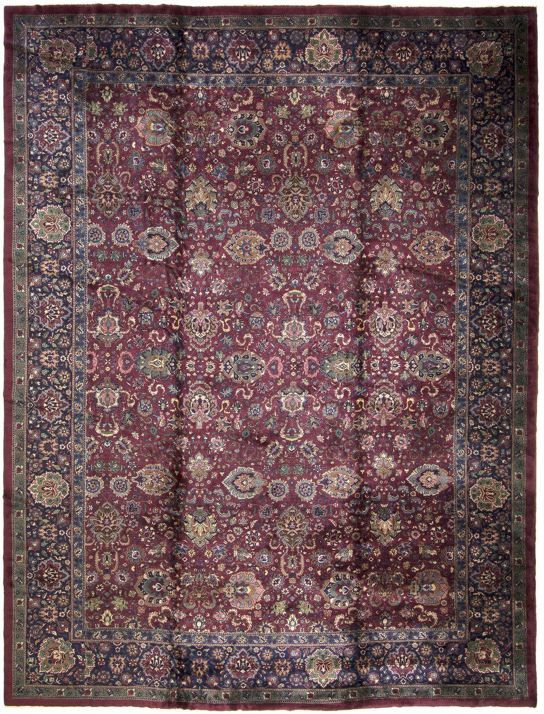 "Indo-Isfahan Carpet 18' 7"" x 14' 1"""