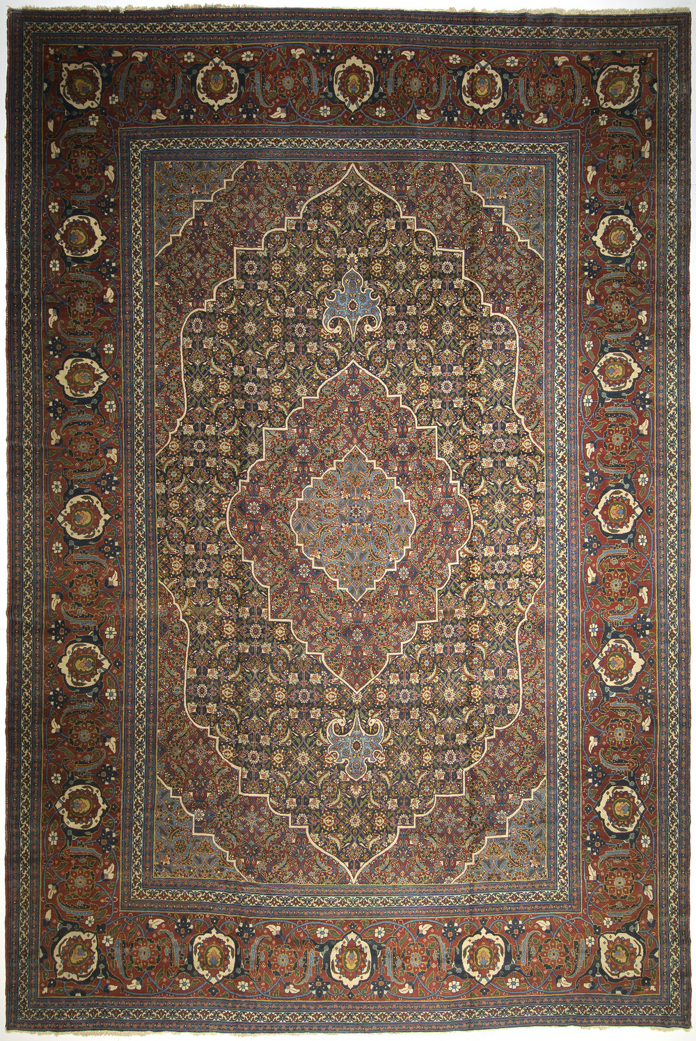 "Tabriz Carpet 22' 3"" x 14' 10"""