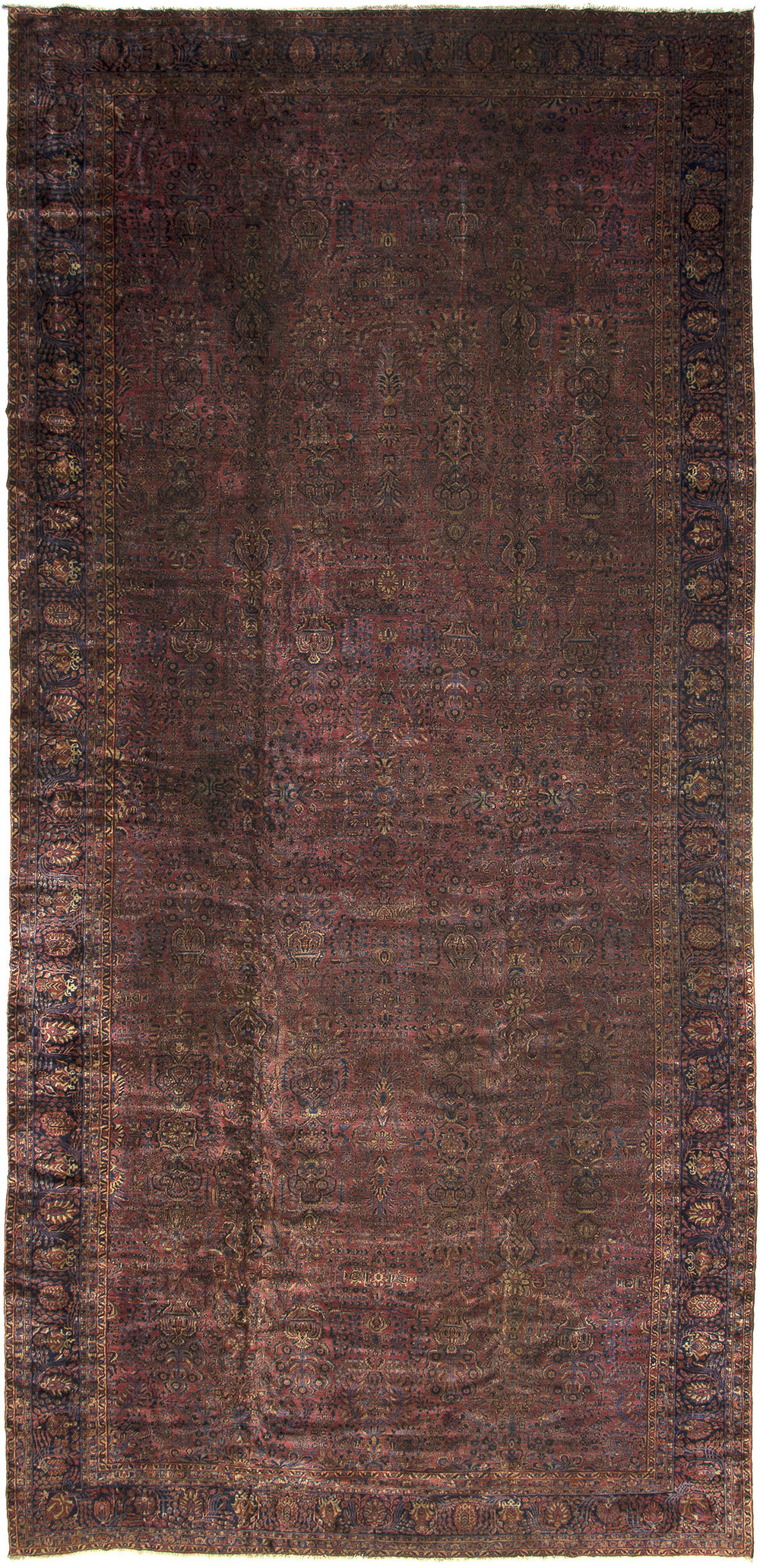 "Sarouk Carpet 28' 8"" x 13' 3"""