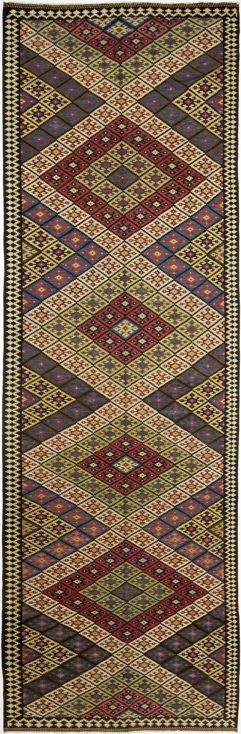 """Q'ashqa'i Kilim Gallery Carpet 17' 5"""" x 5' 6"""""""