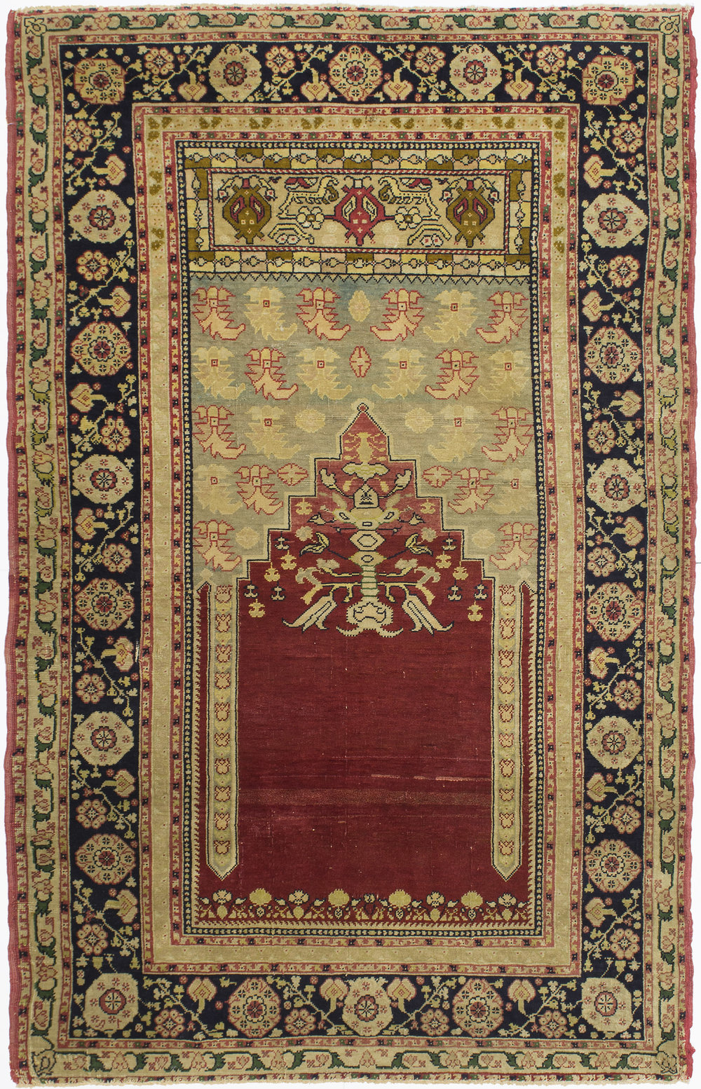 "Agra Prayer Rug 6' 3"" x 4' 0"""