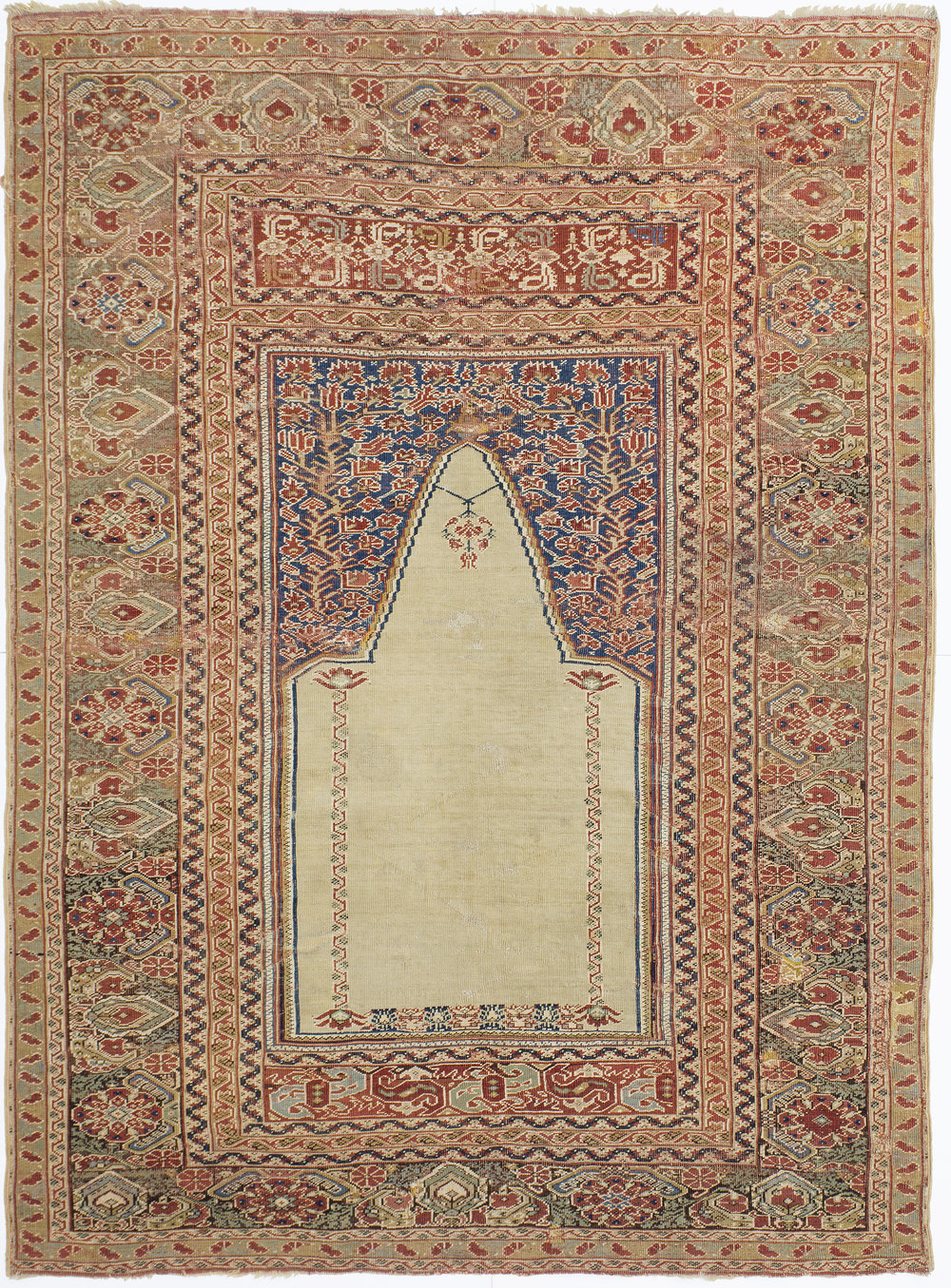 "Ghiordes Prayer Rug 5' 5"" x 4' 0"""