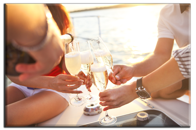 Culinary Cruises Coeur d'Alene Champagne Toast
