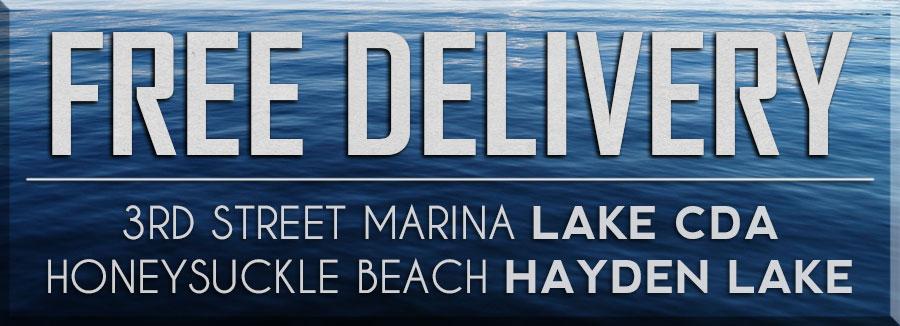 Lake Coeur d'Alene boat deliveries