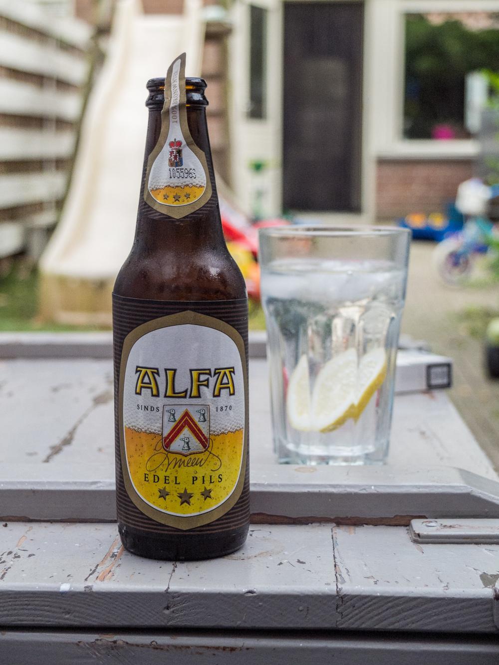 Alfa beer bokeh