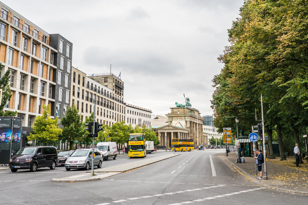 Ebertstraße with the Tiergarten on the right.