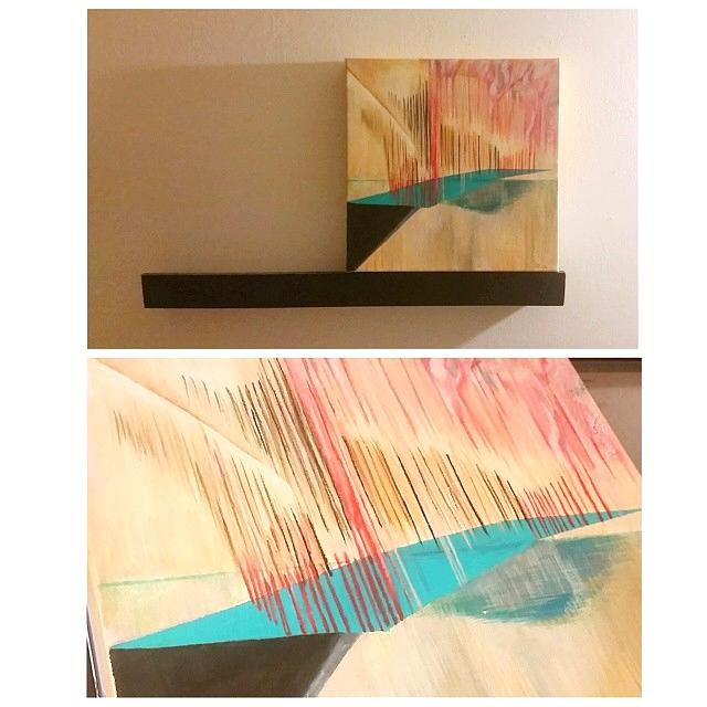 """*BALANCE 9 x 9"""" Acrylic on Canvas. $200"""