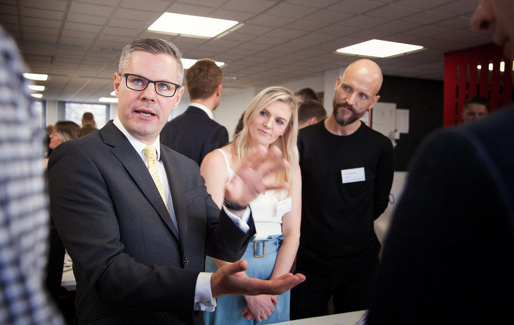Derek Mackay, Cabinet Secretary for Finance, Economy and Fair Work at CivTech 3.0 launch day