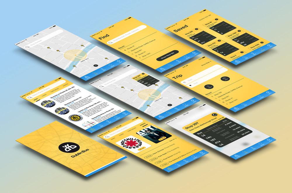 New Dublin Bus App Design