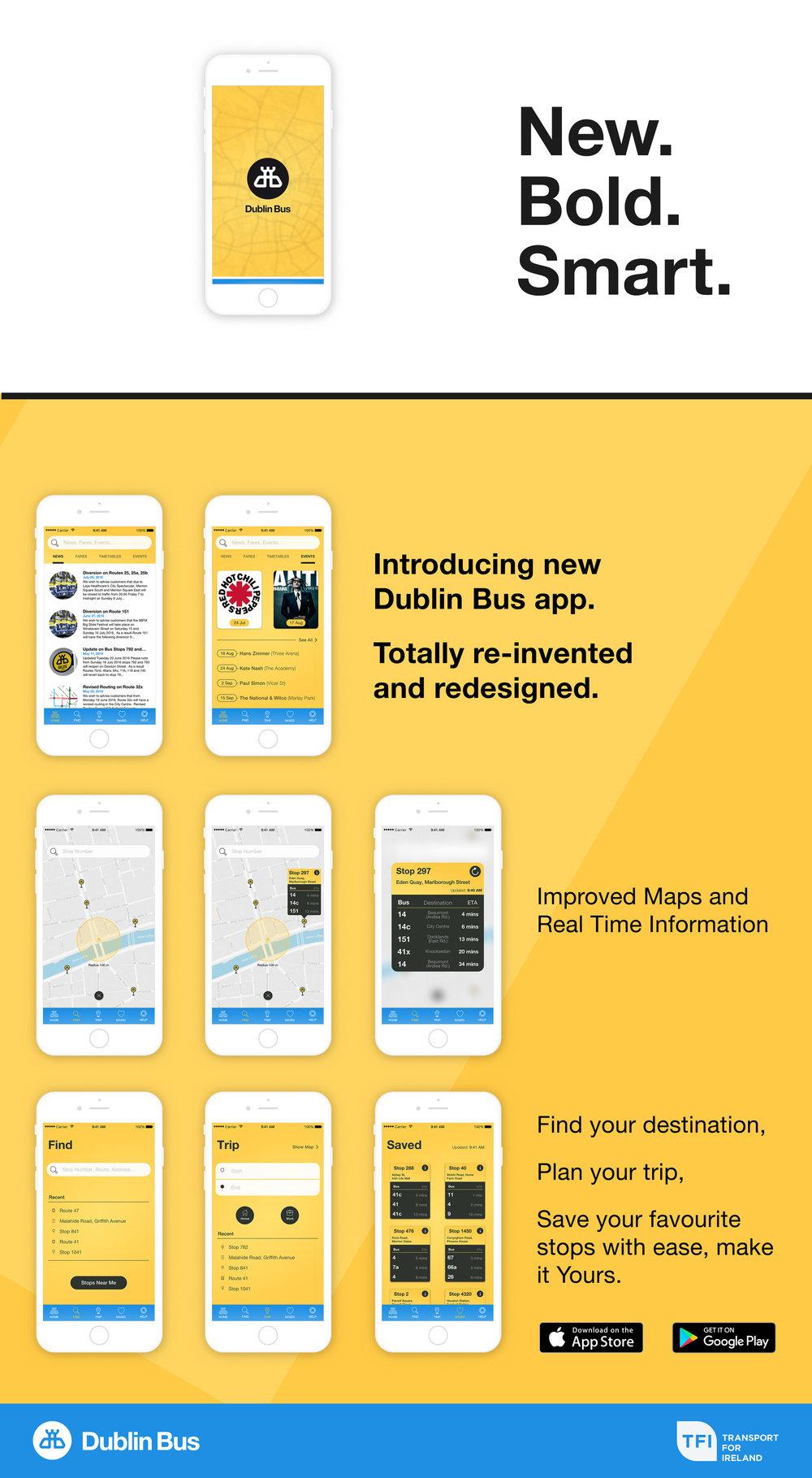New Dublin Bus App Promotional Banner