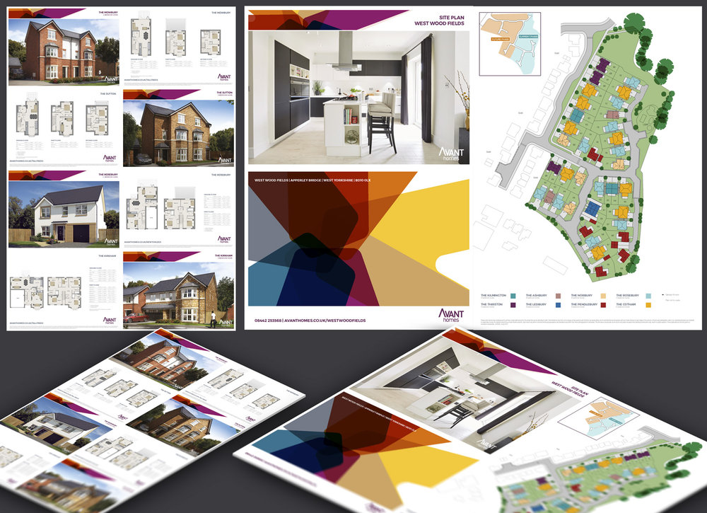 Promotional Materials for AVANT homes (UK) - Rebranding of Brochures, Production of Floorplans and Web Assets
