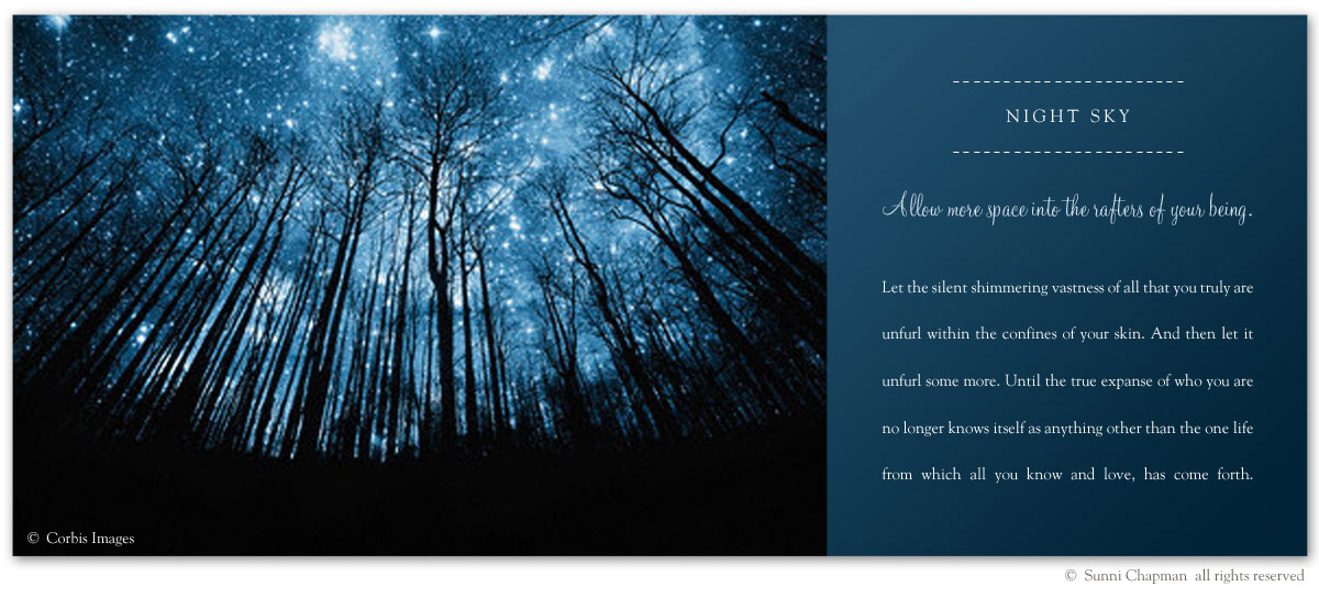 Night Sky - excerpt from the book Letters From Earth By Sunni Chapman