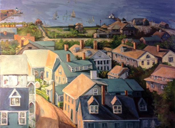 Nantucket Harbor from Widow's Walk