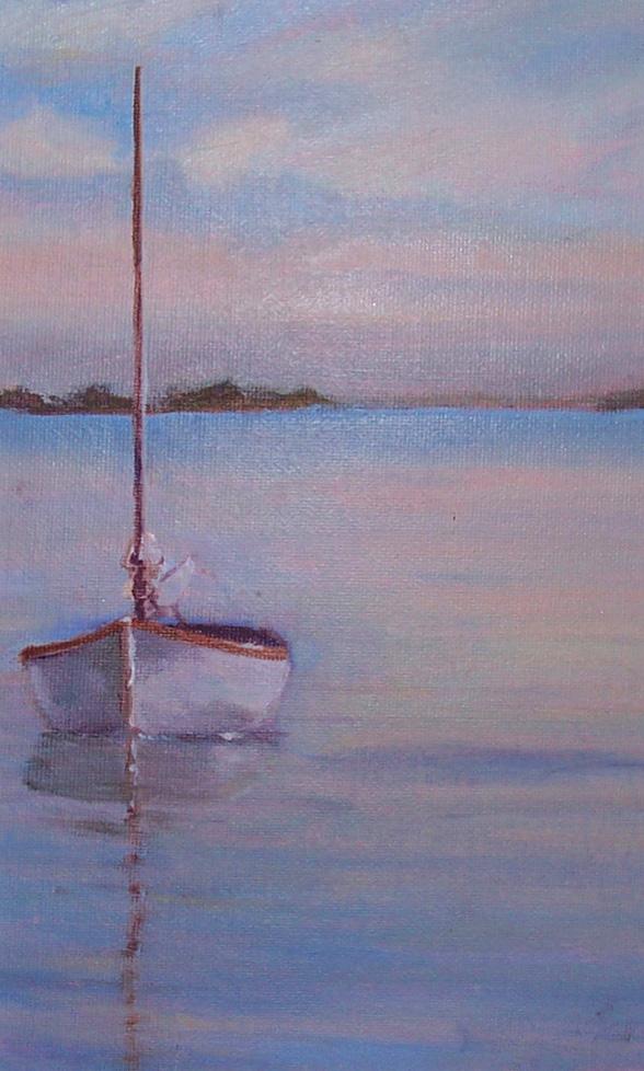 """Bob's Boat (sold) 7"""" x 11"""""""