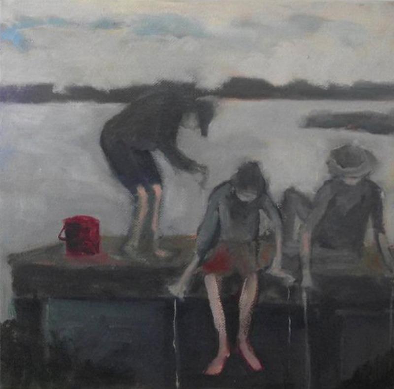 "Crabbing (sold) 10"" x 10:"
