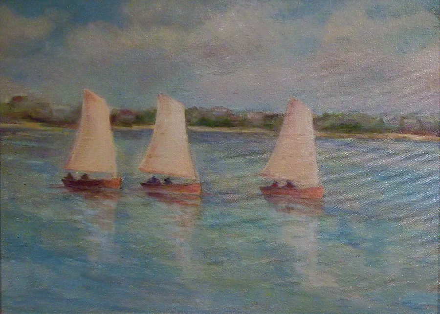 "I Saw Three Ships (sold) 12"" x 16"""