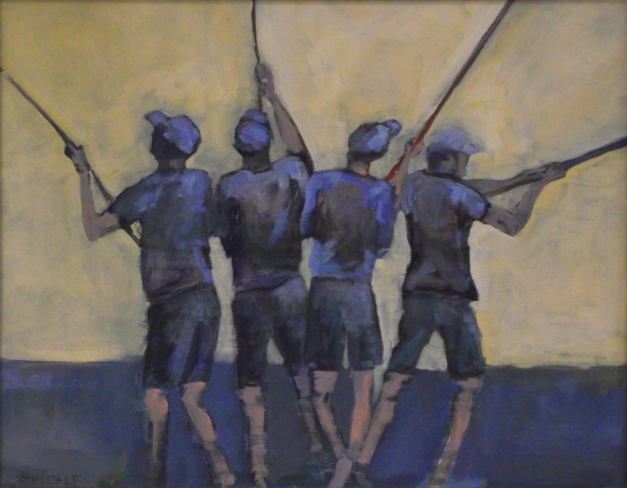 "Men at Work: Surfcasting 18"" x 22"""