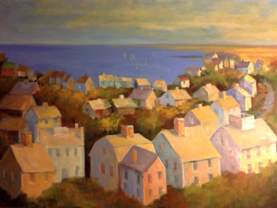 "Nantucket Harbor From Widow's Walk 18"" x 24"""