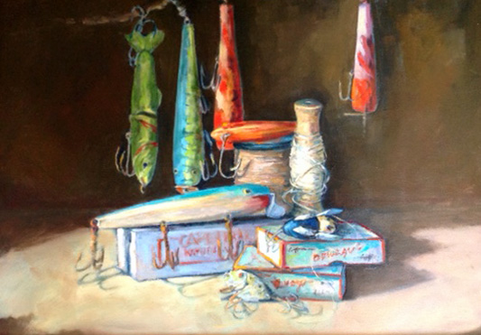"The Lure of Lures 14"" x 18"""