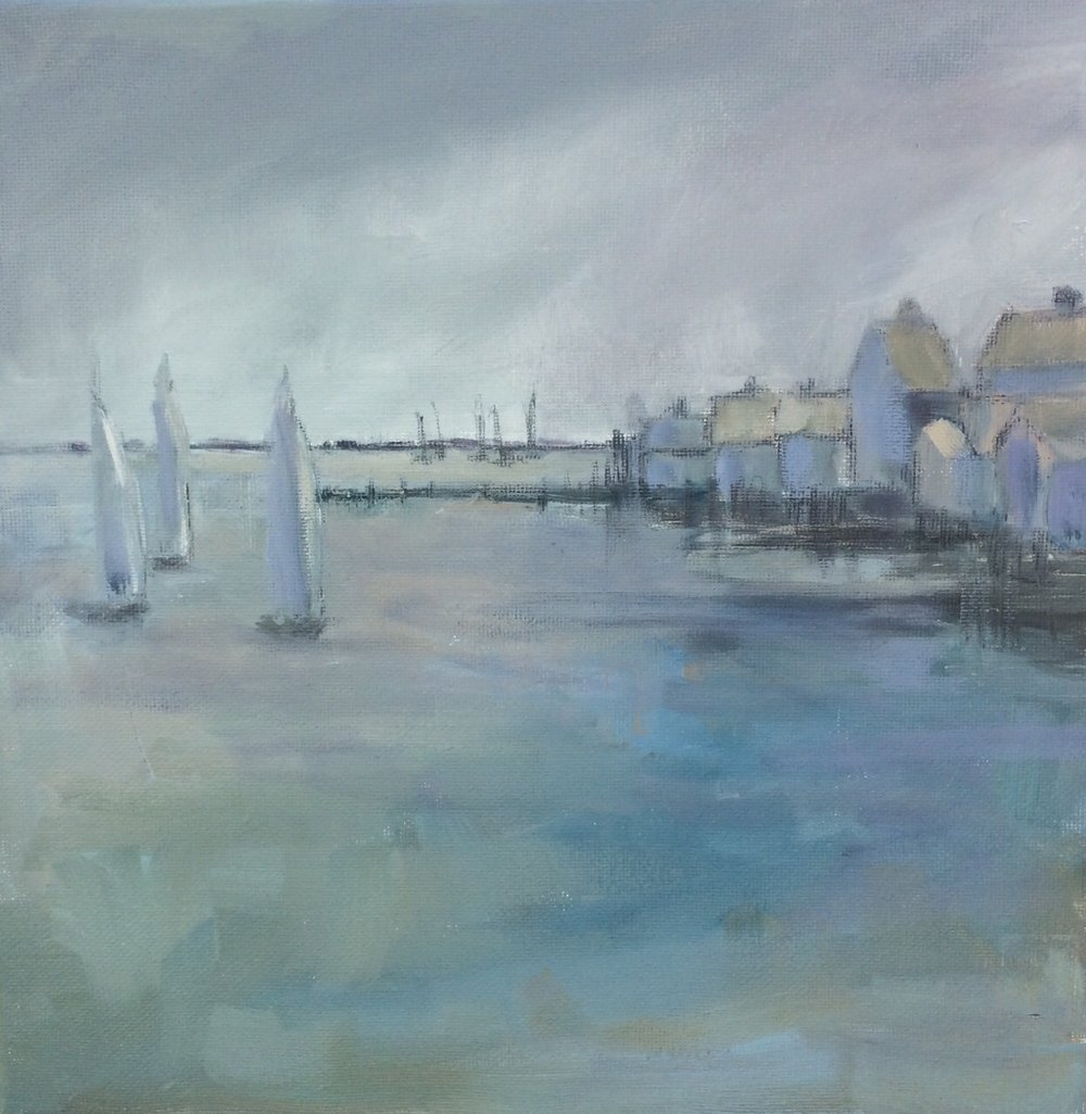 "Foggy Harbor 11"" x 14"""