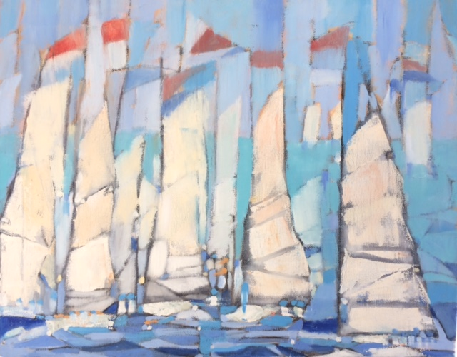 "The Regatta 16"" x 20"" (sold)"