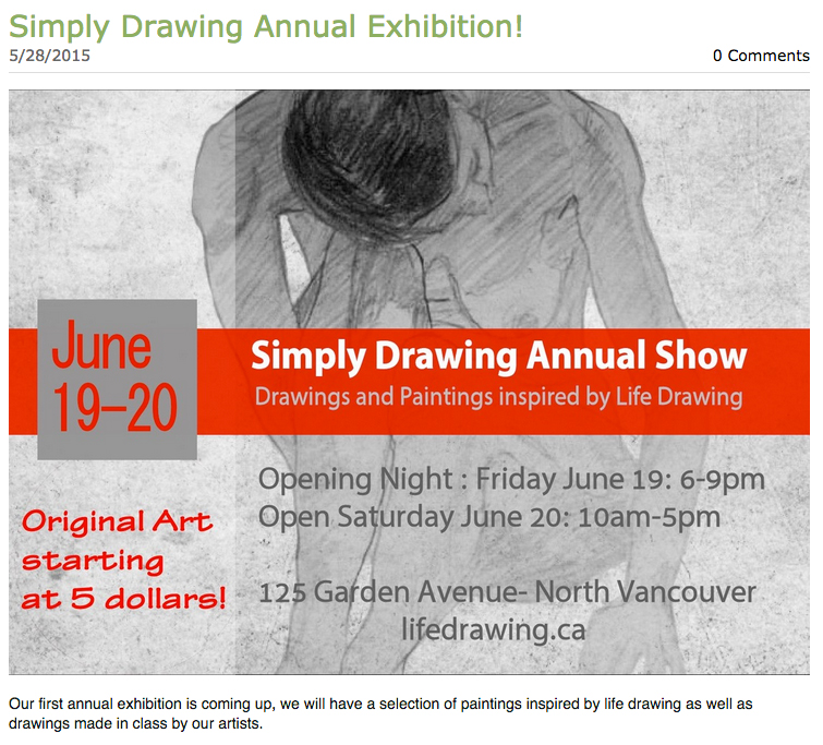 Simply Drawing Annual Show 2015