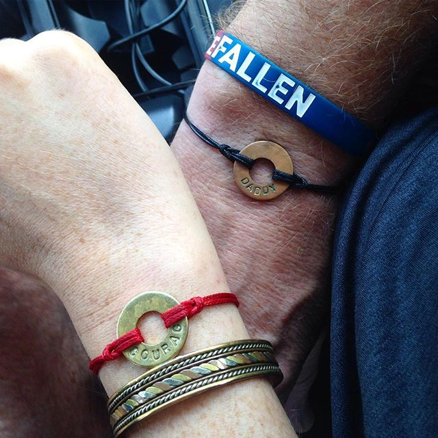Yes, my dad is my best friend and yes, I bought us matching bracelets. #matchymatchy