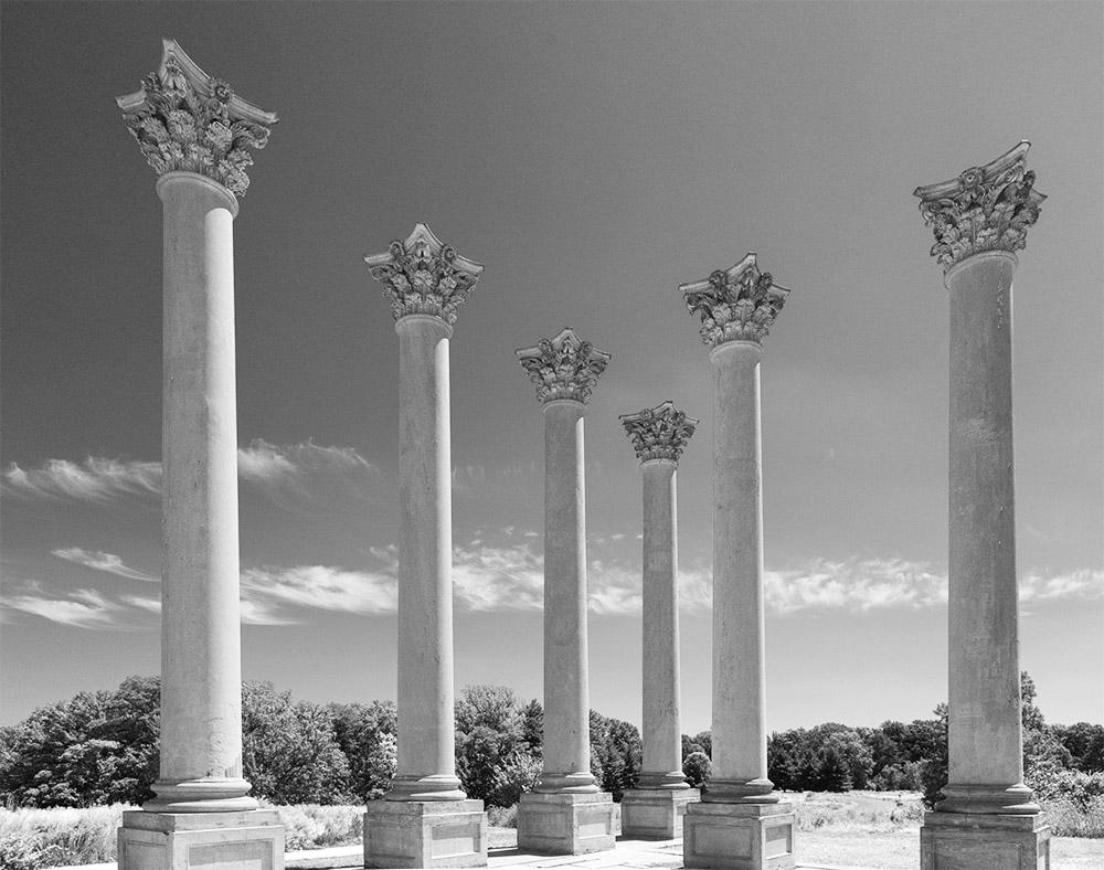 Capitol Columns. National Arboretum. Washington DC, CA. 2015.Canon 5DSr.