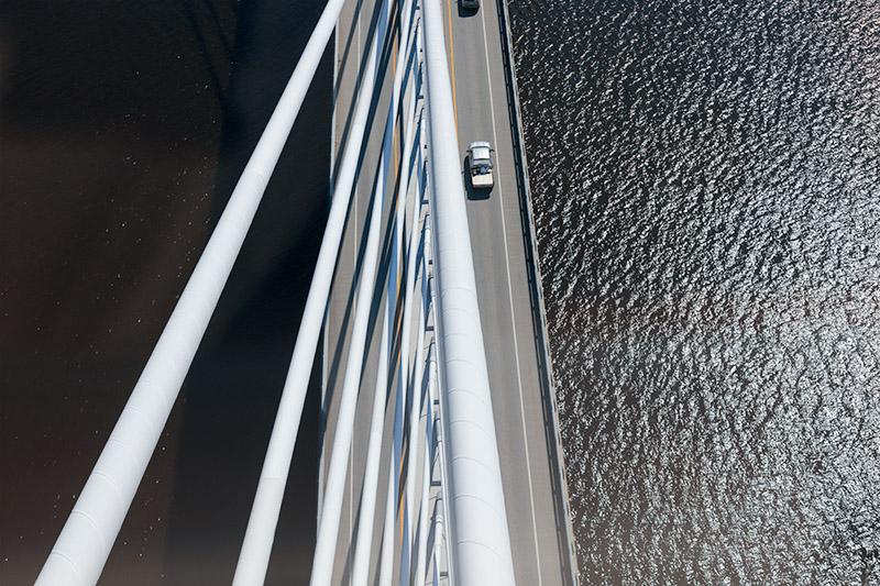 From the Tower, Bucksport Bridge. 2015.Canon 5DSr.