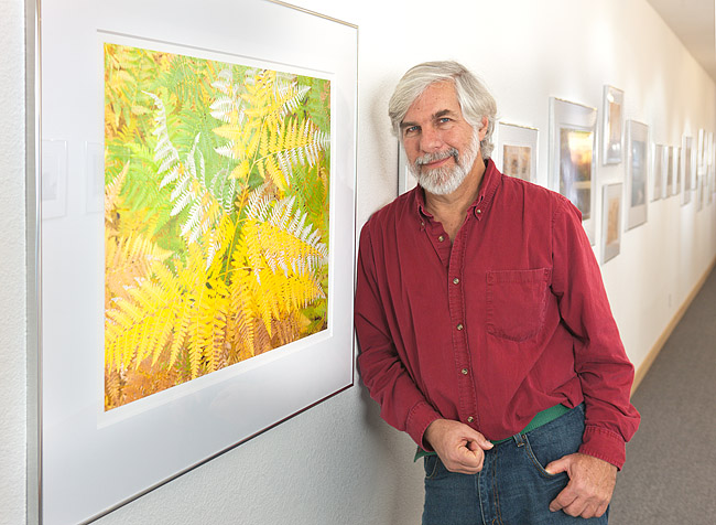 Steve Johnson in his  Exquisite Earth Exhibition . 2011. Photograph by  Bobbi Lane.