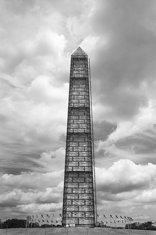 Washington Monument Encased. 2013. Canon 1DS III.
