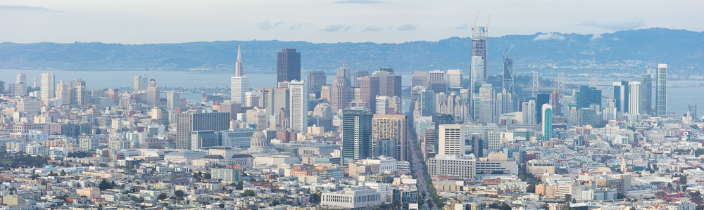 San Francisco Panorama from Twin Peaks. 2017. Canon 5DSr.
