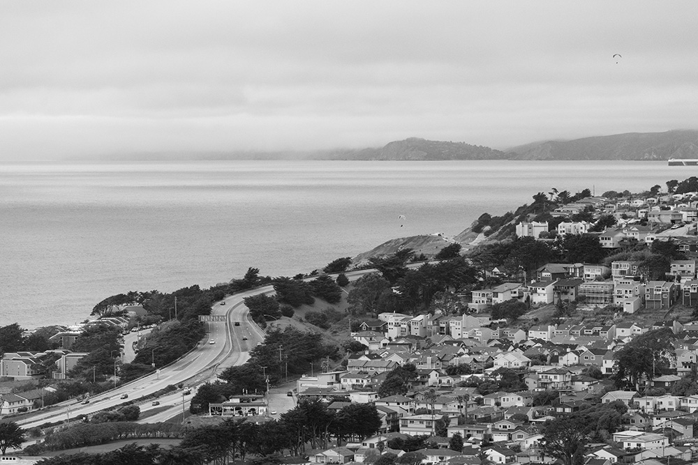 Pacifica Marin Headlands and the entrance to San Francisco Bay. 2017. Canon EOS-5DSr.