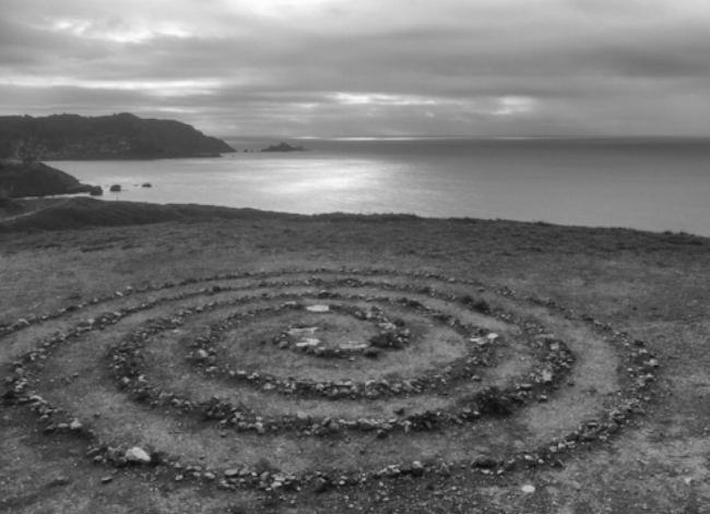 Stone Spiral. Mori Point. Pacifica. 2017. iPhone 6.