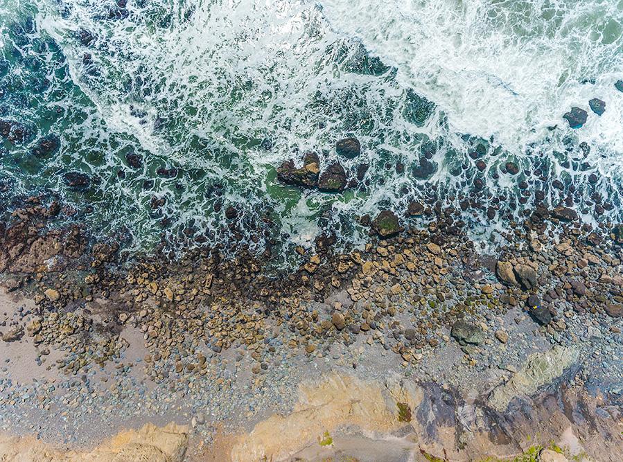 Surf and Beach. Pacifica. 2017. DJI Phantom 4 Drone.