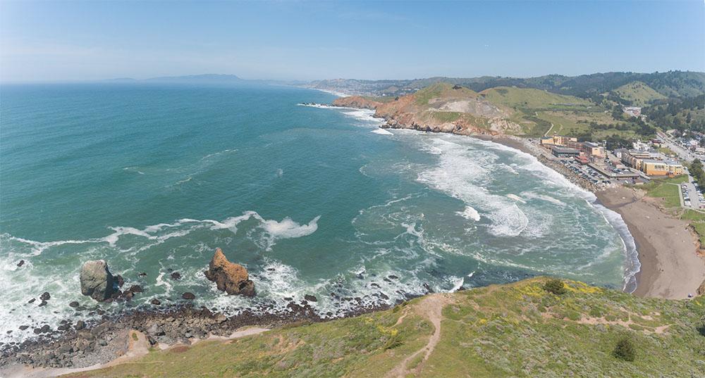 Rockaway Bay from the Headlands. Pacifica. 2017. DJI Phantom 4 drone Panorama.