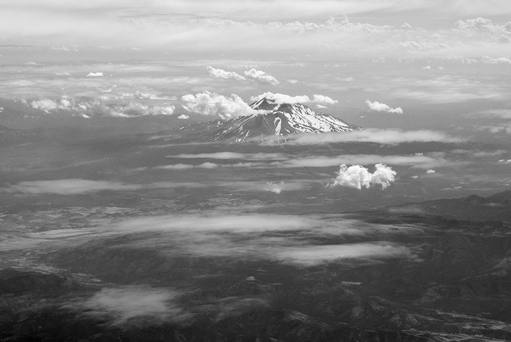 Mt. Shasta from the Air.  Canon EOS-5DSr