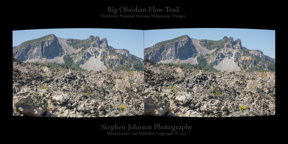 Stereo Card. Big Obsidian Flow Trail. Newberry National Volcanic Monument. 2017. Canon 5DSr.