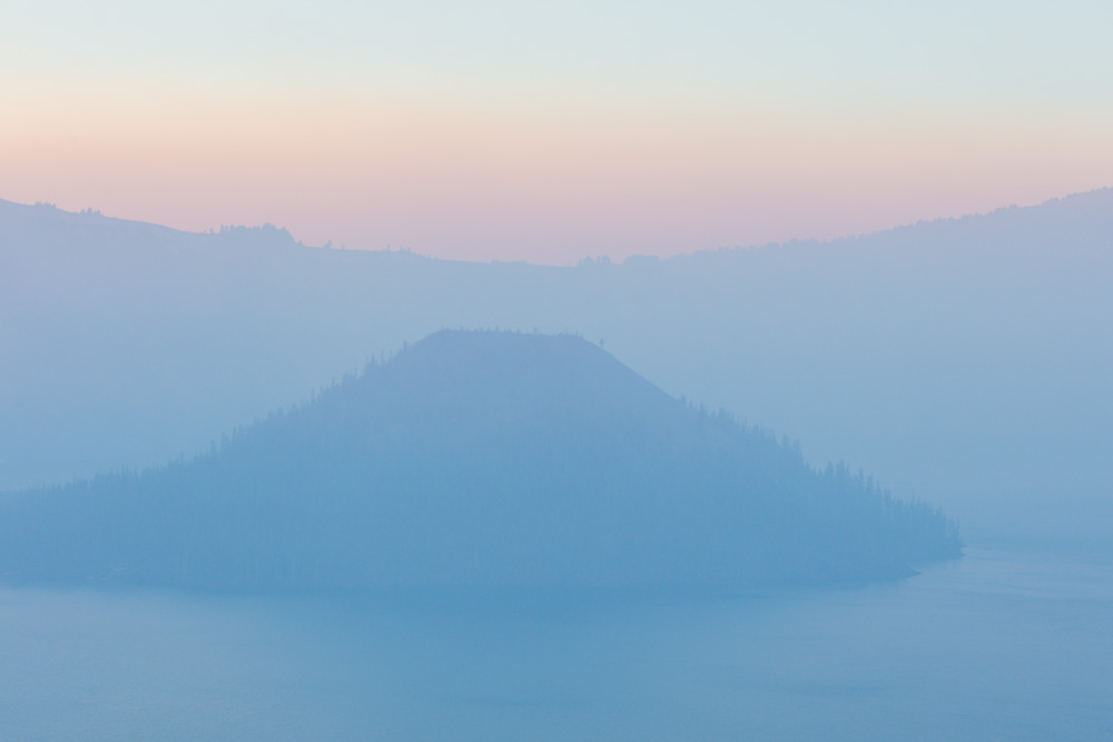 Smoky Wizard Island. Crater Lake. 2017. Canon 5DSr.