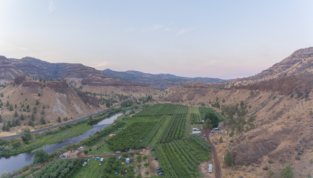 Azure Orchard from about 200 feet up, Oregon. 2017. DJi Phantom 4 Drone.